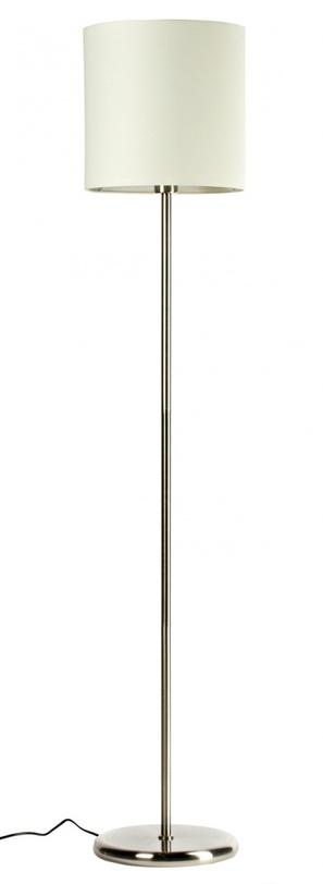 Торшер  AmelieТоршеры<br>Строгий, но изящный торшер, выполненный в минималистическом стиле. Белый тканевый плафон, высокая прямая ножка и лаконичное никелированное основание подчеркивают элегантную простоту изделия. В нем нет ничего лишнего, и в то же время этот торшер достойно дополнит любой интерьер.<br><br>Материал: Белый тканевый плафон размер диаметр 30 см, высота 30 см. Основание никелированное железо<br>Цвет: Белый/серебро<br>Мощность: 40 W<br>Цоколь: Е27<br><br>Material: Железо<br>Height см: 165<br>Diameter см: 30