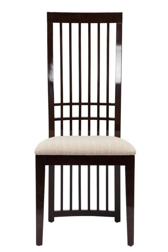 Cтул HardwoodОбеденные стулья<br>Обеденный стул из натурального бука оригинальной формы. Спинка стула напоминает ряд струн на музыкальном инструменте, подойдет как классическим, так и современным интерьерам.<br><br>Материал: дерево (бук), ткань<br>Цвет: темно-коричневый, бежевый<br><br>Material: Текстиль<br>Width см: 48<br>Depth см: 62<br>Height см: 109