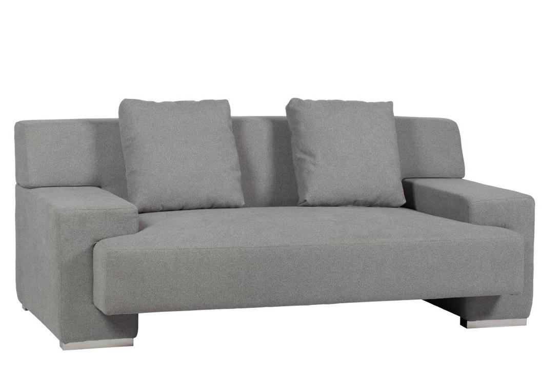 Диван Goodlife SofaДвухместные диваны<br>Стильный диван &amp;quot;Goodlife Sofa&amp;quot; с удобным сиденьем, комфортной спинкой и двумя мягкими подушками станет главным украшением вашей гостиной и превосходным местом отдыха. Приятный серый цвет обивки позволяет предмету мебели преобразить любой интерьер, а специальные плоские подлокотники дают возможность поставить на них поднос с любимым напитком или закуской для приятного времяпрепровождения перед телевизором или в компании близких людей.&amp;amp;nbsp;&amp;lt;div&amp;gt;&amp;lt;span style=&amp;quot;line-height: 1.78571;&amp;quot;&amp;gt;&amp;lt;b&amp;gt;Материал&amp;lt;/b&amp;gt;: ткань, поролон, деревянное основание, хромированные ножки&amp;lt;/span&amp;gt;&amp;lt;/div&amp;gt;<br><br>Material: Текстиль<br>Length см: None<br>Width см: 165<br>Depth см: 94<br>Height см: 68