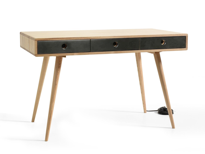 Рабочий стол n cord со встроенными розетками (acwd) черный 120x75x60 см.