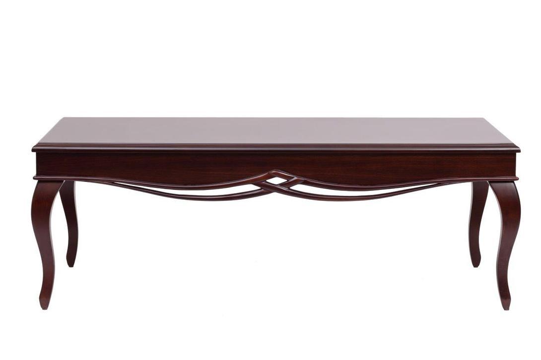 Кофейный столик HenriКофейные столики<br>Роскошный кофейный столик из натурального бука. Основание украшено резьбой в виде переплетающейся лозы, низкие ножки изящно изгибаются. Находка для чуть осовремененных интерьеров во французском стиле.<br><br>Material: Бук<br>Length см: 130.0<br>Width см: 70.0<br>Depth см: None<br>Height см: 45.0<br>Diameter см: None