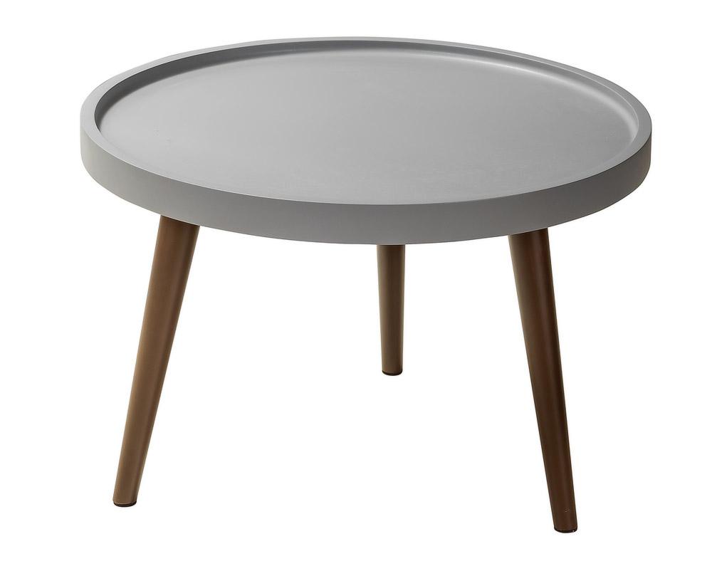 Стол журнальный luna (r-home) серый 60x39x60 см.