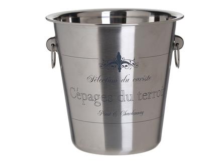 Ведерко для льда eydor (to4rooms) серебристый 21.0 см.
