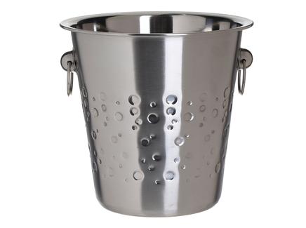 Ведерко для льда karry (to4rooms) серебристый 21.0 см.