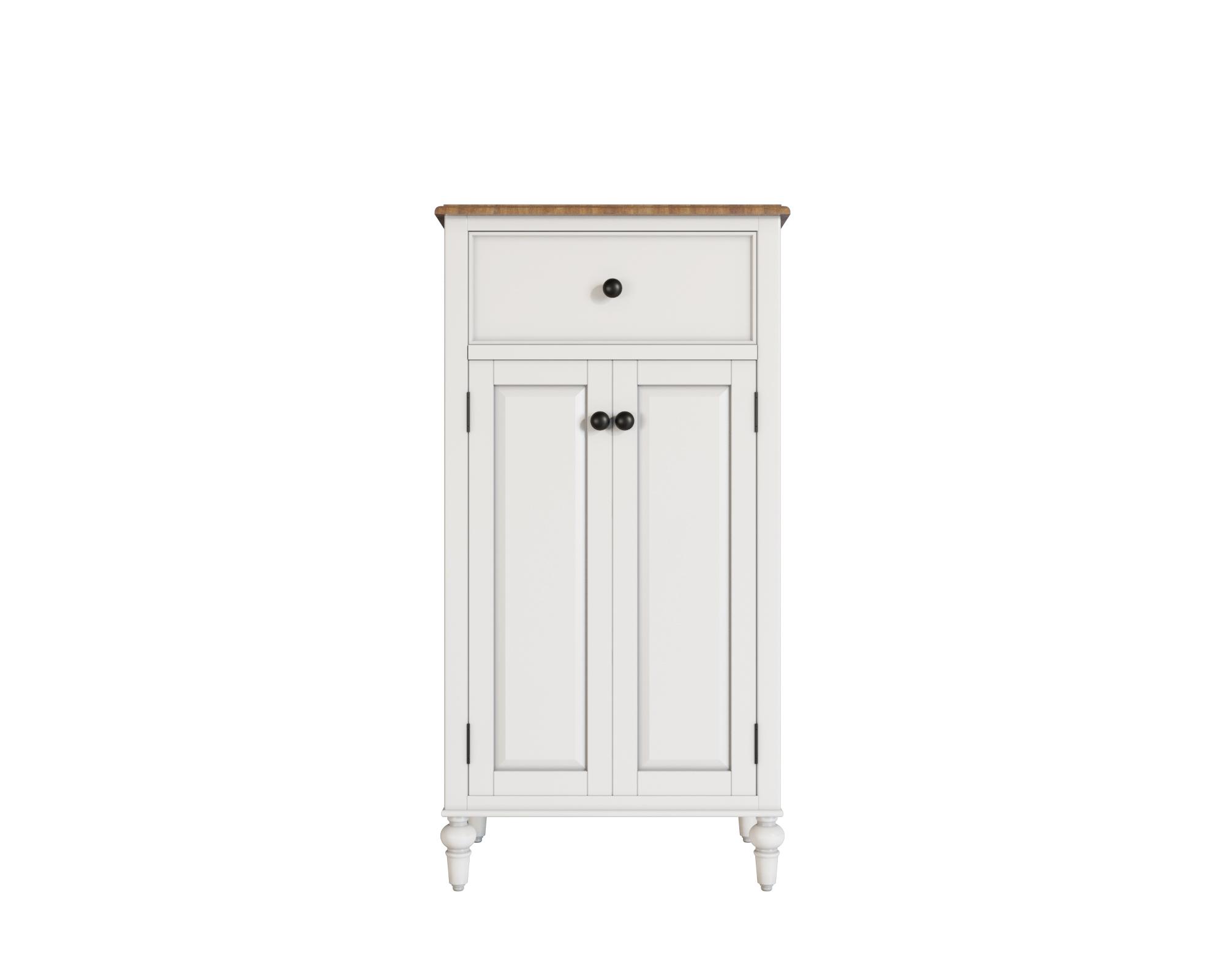 Узкий комод odri с дверками (etg-home) белый 60x120x40 см. фото