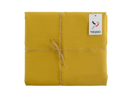 Скатерть essential (tkano) желтый 143x143 см.