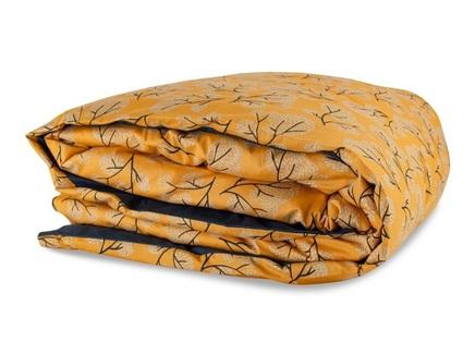 Пододеяльник сибирский цветок 200х200 (tkano) оранжевый 200x200 см.