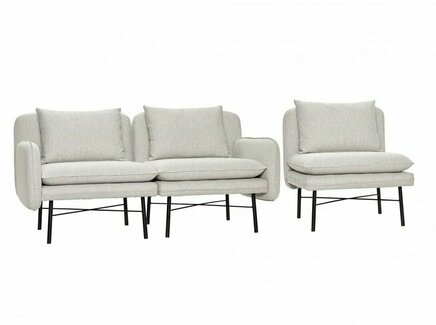 Модульный диван (hubsch) серый 160.0x74.0x72.0 см.