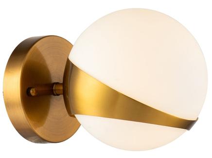 Бра шар (garda decor) бронзовый 15x15x22 см.