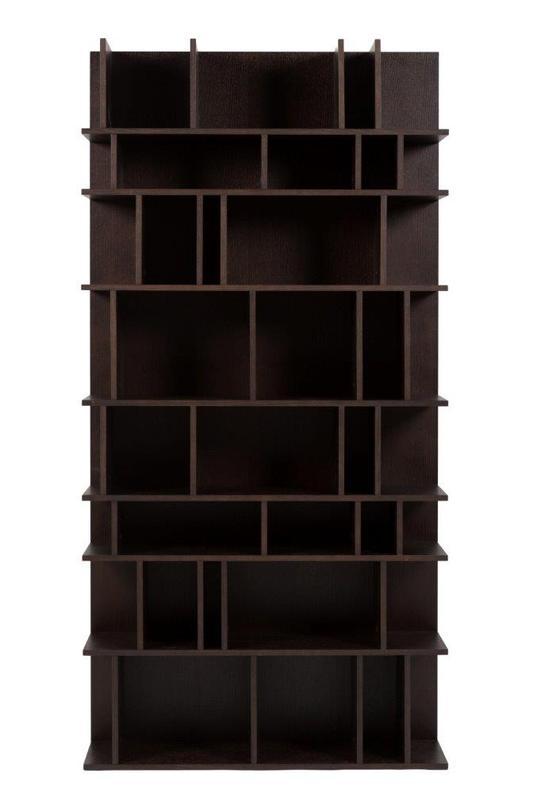 Стеллаж ElementСтеллажи и этажерки<br>Вместительный стеллаж шоколадного цвета. Полки разной высоты дополнительно разделены перегородками, позволяющими ставить и небольшие группы книг без специальных держателей, и подчеркивать ценность отдельных предметов.<br><br>Material: МДФ<br>Length см: 100<br>Depth см: 30<br>Height см: 200