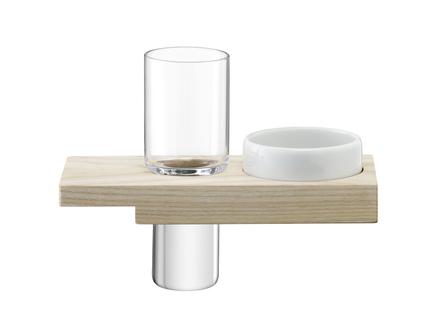 Набор сервировочный из стопки и подставки vodka solo (lsa international) прозрачный