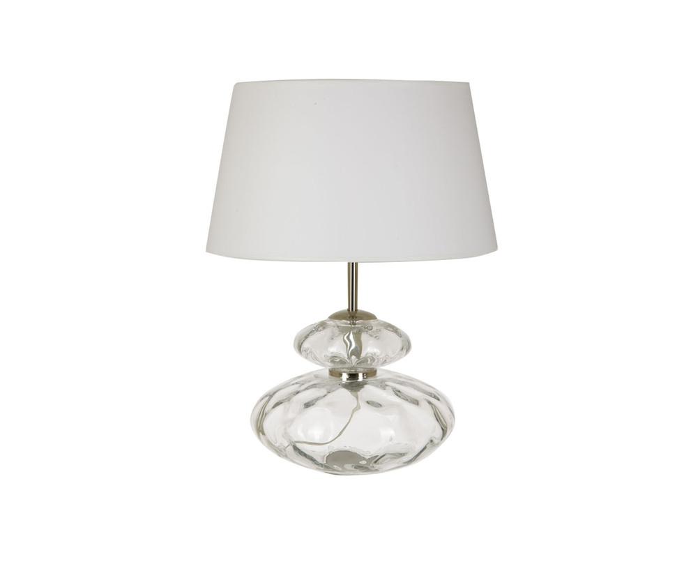 Настольная лампа MagesticДекоративные лампы<br>Настольная лампа с мерцающим основанием в виде колбы из толстого, неровного стекла. Оно дополнено светлым абажуром классической формы.&amp;lt;div&amp;gt;&amp;lt;br&amp;gt;&amp;lt;/div&amp;gt;&amp;lt;div&amp;gt;&amp;lt;div&amp;gt;Вид цоколя: E27&amp;lt;/div&amp;gt;&amp;lt;div&amp;gt;Мощность: 60W&amp;lt;/div&amp;gt;&amp;lt;div&amp;gt;Количество ламп: 1&amp;lt;/div&amp;gt;&amp;lt;/div&amp;gt;<br><br>Material: Стекло<br>Height см: 49<br>Diameter см: 30