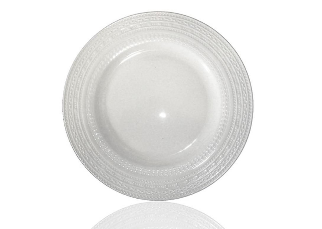 Набор тарелок ReliefТарелки<br>Набор из 6 тарелок. Изысканная коллекция белого фарфора со сложной фактурой.<br>Можно использовать в СВЧ печи и посудомоечной машине.<br><br>Material: Фарфор<br>Length см: None<br>Width см: None<br>Depth см: None<br>Height см: None<br>Diameter см: 22.5