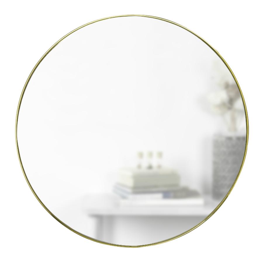 Зеркало настенное hubba d86 см латунь (umbra) серебристый 1 см.