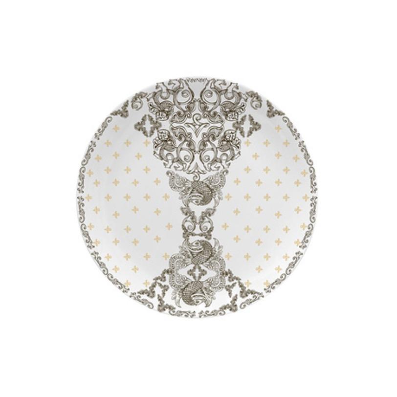 Десетрная тарелка Varvara PremiumТарелки<br>Тончайший костяной фарфор, Рисунок нанесен методом деколирования, Можно мыть в посудомоечной машине.<br><br>Material: Фарфор