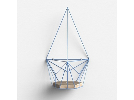 Подвесное кашпо шаттл (archpole) голубой 28x48x24 см.