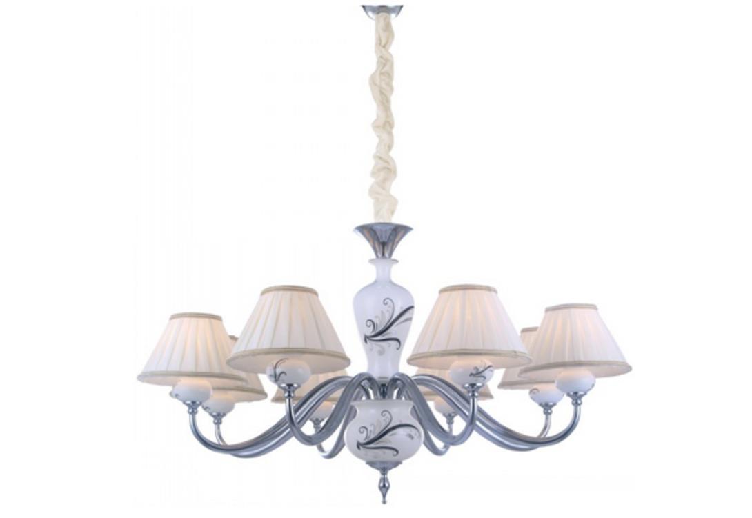 """Купить Люстра """"veronika"""" (Arte lamp) белый текстиль 52 см. 16399 в интернет магазине. Цены, фото, описания, характеристики, отзывы, обзоры"""