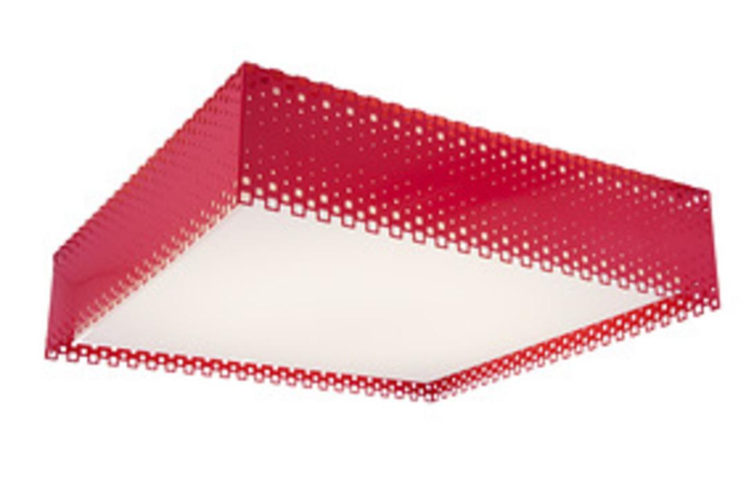 Cветильник RedПотолочные светильники<br>Оригинальный потолочный светильник Смит из красного стекла - для смелых современных интерьеров. Такой светильник квадратной формы будет уместен на кухне или в детской комнате.<br><br>Power LED 1*24+1*15w<br><br>Material: Стекло<br>Length см: 40<br>Width см: 40<br>Height см: 13