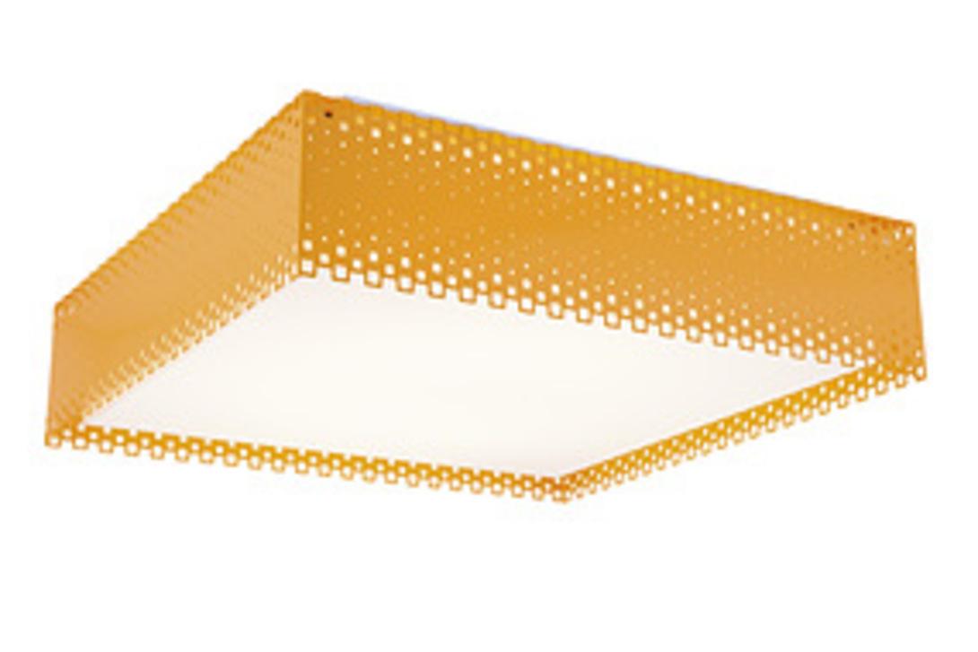 Светильник OrangeПотолочные светильники<br>Оригинальный потолочный светильник Смит из оранжевого стекла - для смелых современных интерьеров. Такой светильник квадратной формы будет уместен на кухне или в детской комнате.<br><br>Power LED 1*18w+1*10w<br><br>Material: Стекло<br>Length см: 40<br>Width см: 40<br>Height см: 13
