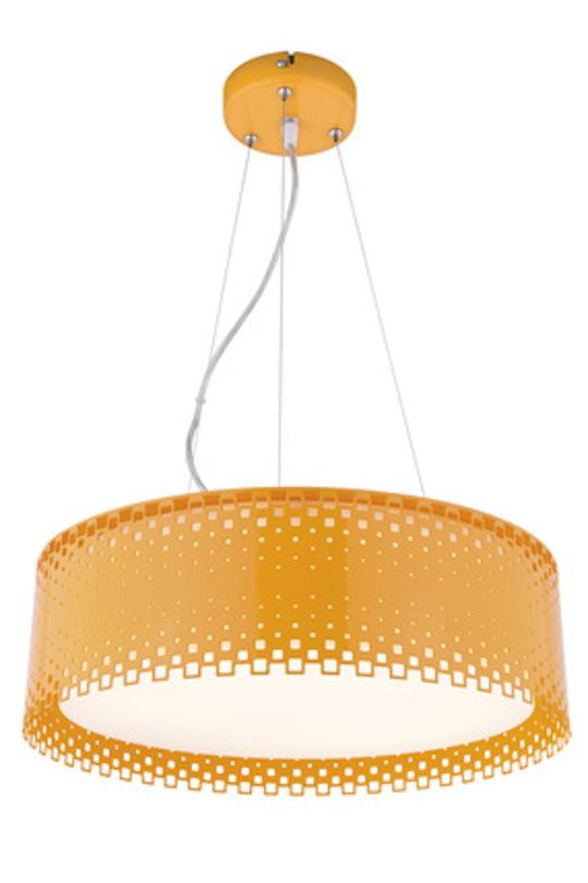 Подвесной светильник OrangeПодвесные светильники<br>Потолочный светильник «Orange» прекрасно подойдет для обеденной зоны или кухни в стиле поп-арт или лофт. Оранжевый цвет разжигает аппетит и создает прекрасное настроение, а принимать пищу следует именно в таком состоянии.<br><br>Power LED 1*18w+1*10w<br><br>Material: Стекло<br>Height см: 13<br>Diameter см: 40
