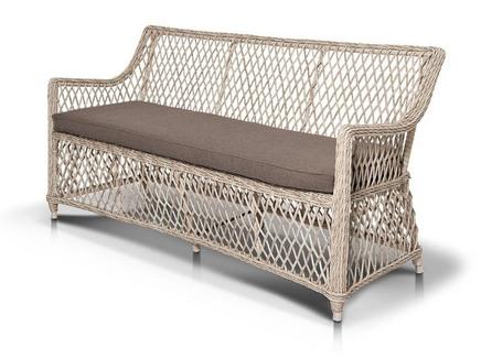 Диван латте (outdoor) белый 160x84x68 см.