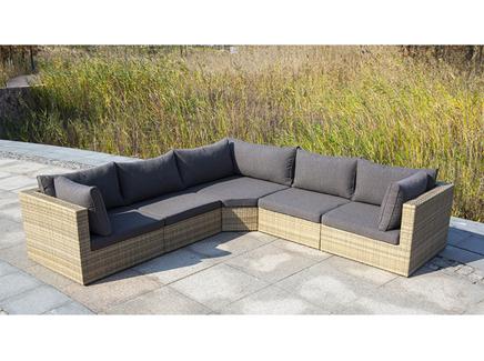 Модульный диван сан-марино (outdoor) бежевый 110x62x110 см.