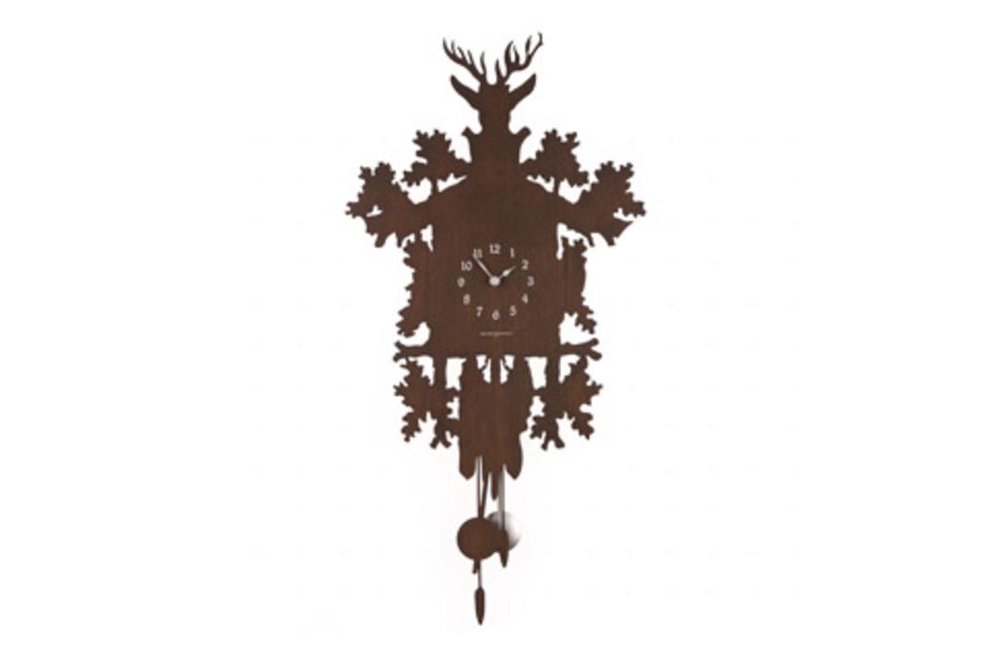 Часы Cucu Low CostНастенные часы<br>Эти часы с кукушкой и маятником в форме избушки из дремучего леса неизменно вызывают ассоциации с детскими сказками. Часы выполнены с помощью техники лазерной резки по металлу итальянскими мастерами.<br><br>Кварцевый механизм.<br><br>Material: Дерево<br>Length см: None<br>Width см: 41<br>Depth см: 2<br>Height см: 81<br>Diameter см: None
