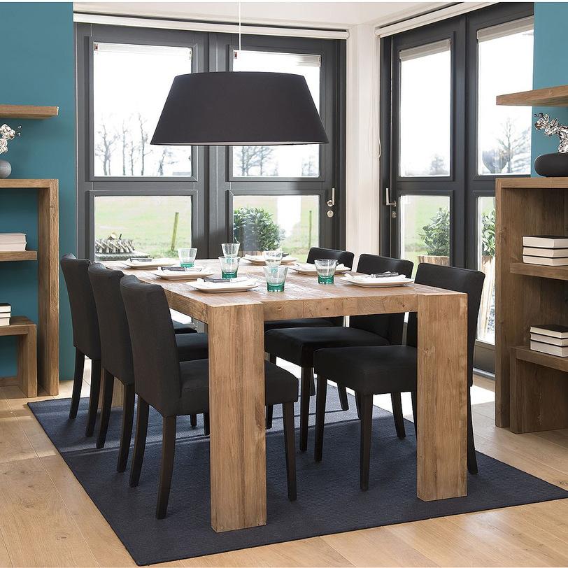 Стол обеденный Lekk 160Обеденные столы<br>Обеденный стол в стиле лофт из натурального дерева. Прямоугольные ножки оригинально выходят за пределы массивной столешницы, что подчеркивает красоту цельных деталей из массива тика.<br><br>Material: Тик<br>Length см: None<br>Width см: 160.0<br>Depth см: 90.0<br>Height см: 78.0<br>Diameter см: None
