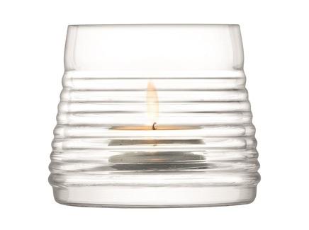 Подсвечник для чайной свечи groove (lsa international) прозрачный