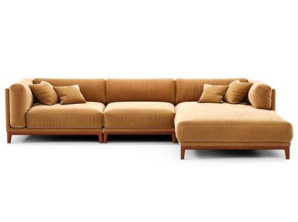 Диван case (the idea) оранжевый 342x80x195 см.