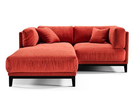 Диван case (the idea) красный 188x80x195 см.