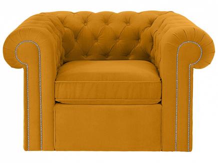 Кресло chesterfield (ogogo) желтый 115x73x105 см.