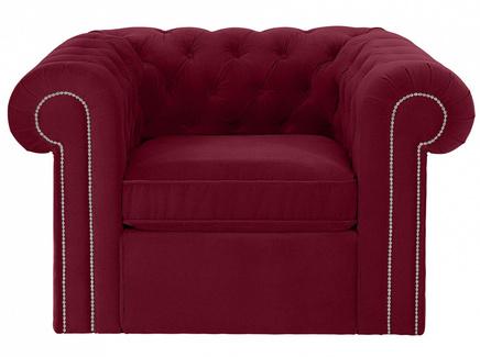 Кресло chesterfield (ogogo) красный 115x73x105 см.