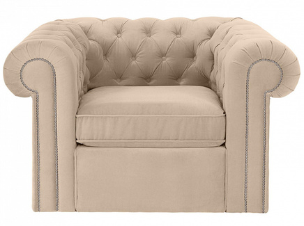 Кресло chesterfield (ogogo) бежевый 115x73x105 см.