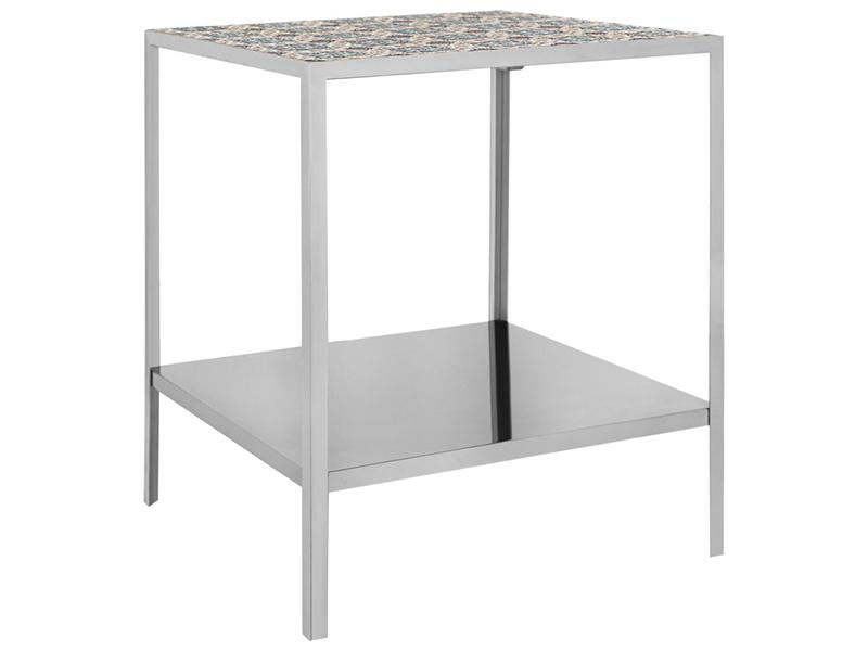 Стол журнальный graphite (m-style) серебристый 50x60x50 см.