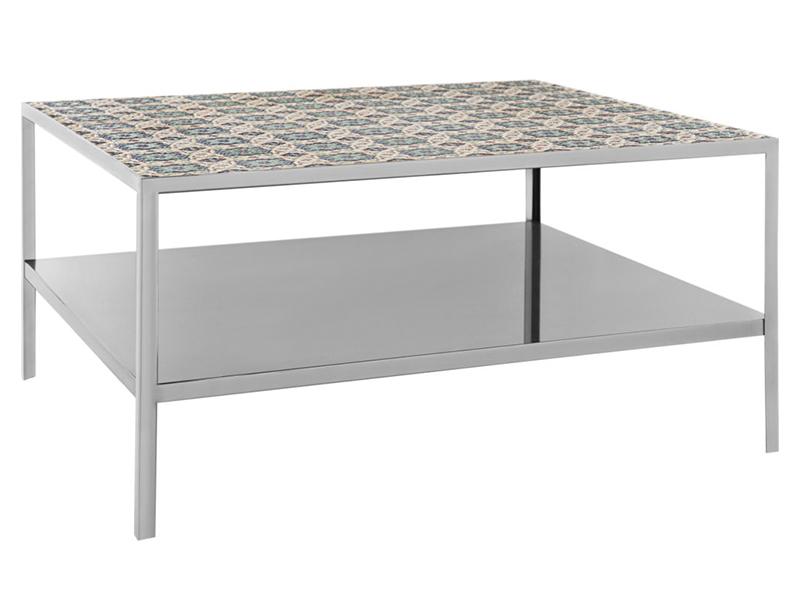 Стол журнальный graphite (m-style) серебристый 79x40x79 см.