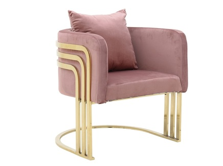Кресло lotus (to4rooms) розовый 55x68x65 см.