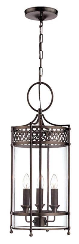 Светильник Guildhall Pendant Dark BronzeПодвесные светильники<br>Стильный бронзовый светильник в виде фонаря на тонкой цепи - оригинальное решение для современного интерьера. Подойдет для оформления света как в домашнем помещении, так и в ресторанах и отелях.<br><br>Мощность: 3 x 60W E14<br>Длина подвеса: 123 см<br><br>Material: Бронза<br>Высота см: 62
