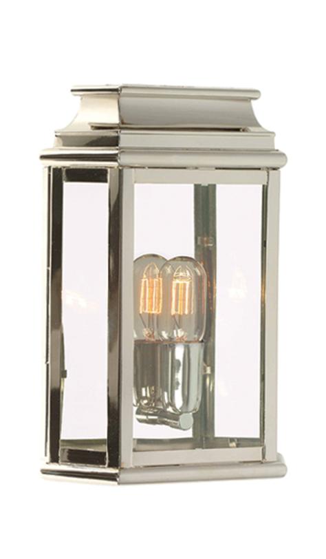 Светильник St Martins Wall Lantern Polished NickelУличные настенные светильники<br>Лампа из никеля от британских дизайнеров стилизована под уличный фонарь. Благодаря своей индустриальности и лаконичности дизайна отлично подойдет для современного интерьера в стиле лофт.<br><br>Мощность: 1 x 100W E27<br><br>Material: Никель<br>Ширина см: 22<br>Высота см: 30<br>Глубина см: 8