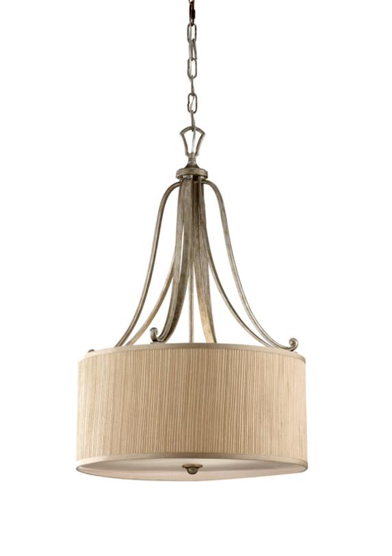 Светильник AbbeyПодвесные светильники<br>Подвесной светильник из коллекции Abbey подойдет для создания света в прихожей, холле, спальне. Плафон изготовлен из плиссированной ткани теплого песочного оттенка. Красивый светильник в стиле Прованса подойдет для оформления как классических, так и современных интерьеров.<br><br>Мощность: 3x E27 100W<br><br>Material: Текстиль<br>Height см: 79.1<br>Diameter см: 50.8