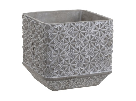 Кашпо torthtan (to4rooms) серый 17.5x16.0x17.5 см.