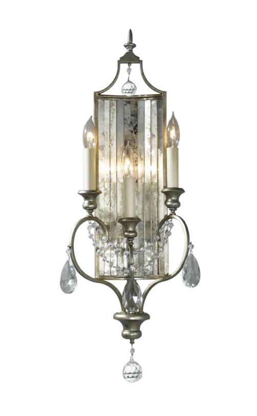 """Бра GiannaБра<br>Настенный светильник-бра из коллекции """"Жанна"""" американского бренда Feiss. Легкий эффект старения на металле и стекле придает особый шарм элементу декора в стиле французский шик.<br><br>Мощность: 3x E14 60W<br><br>Material: Металл<br>Ширина см: 27<br>Высота см: 69<br>Глубина см: 11"""