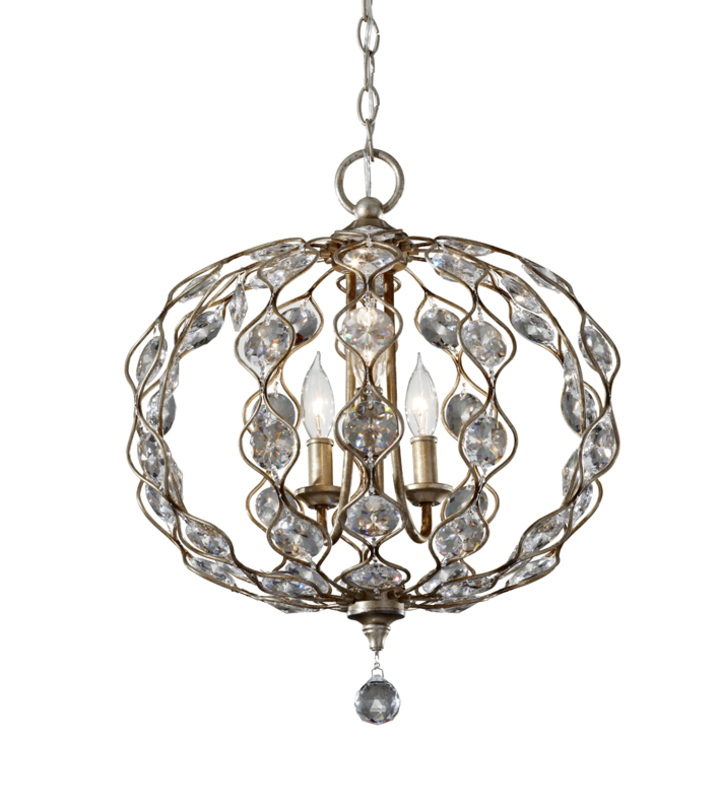 Люстра Leila Burnished SilverЛюстры подвесные<br>Великолепная люстра сферической формы украшена крупными стеклянными стразами. Нарядная люстра будет уместна в гостиной или спальне в классическом или современном эклектичном пространстве. Сочетайте с бра из серии leila burnished silver.<br><br>Мощность: 3x E14 60W<br><br>Material: Металл<br>Высота см: 54<br>Глубина см: 49