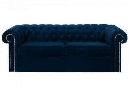 Диван chesterfield (ogogo) синий 208x73x105 см.