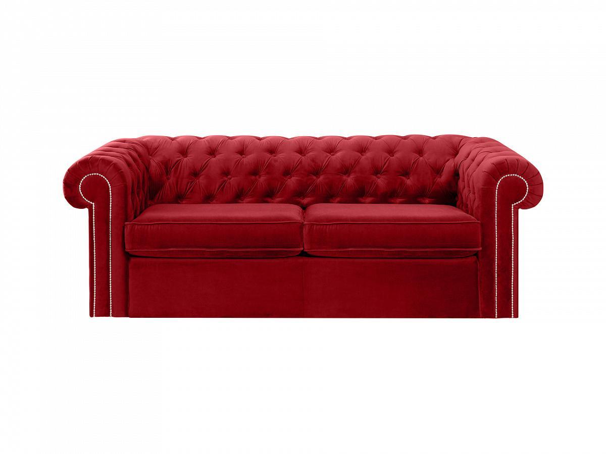 Ogogo диван chesterfield красный 109181/3