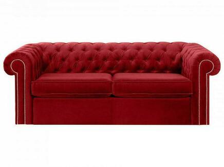 Диван chesterfield (ogogo) красный 208x73x105 см.