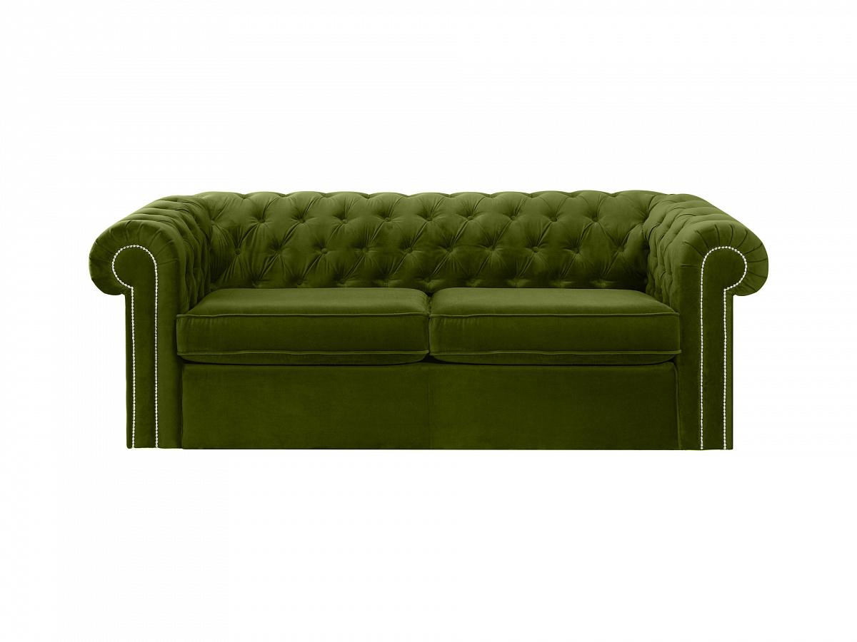 Ogogo диван chesterfield зеленый 109183/9