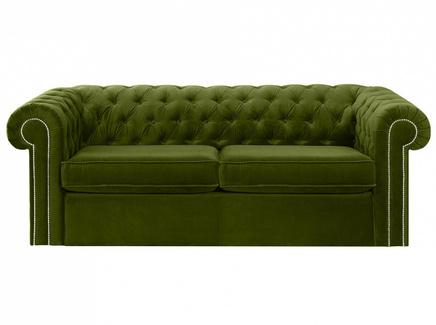 Диван chesterfield (ogogo) зеленый 208x73x105 см.