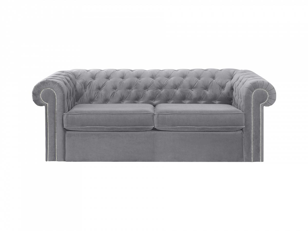 Ogogo диван chesterfield серый 109184/2