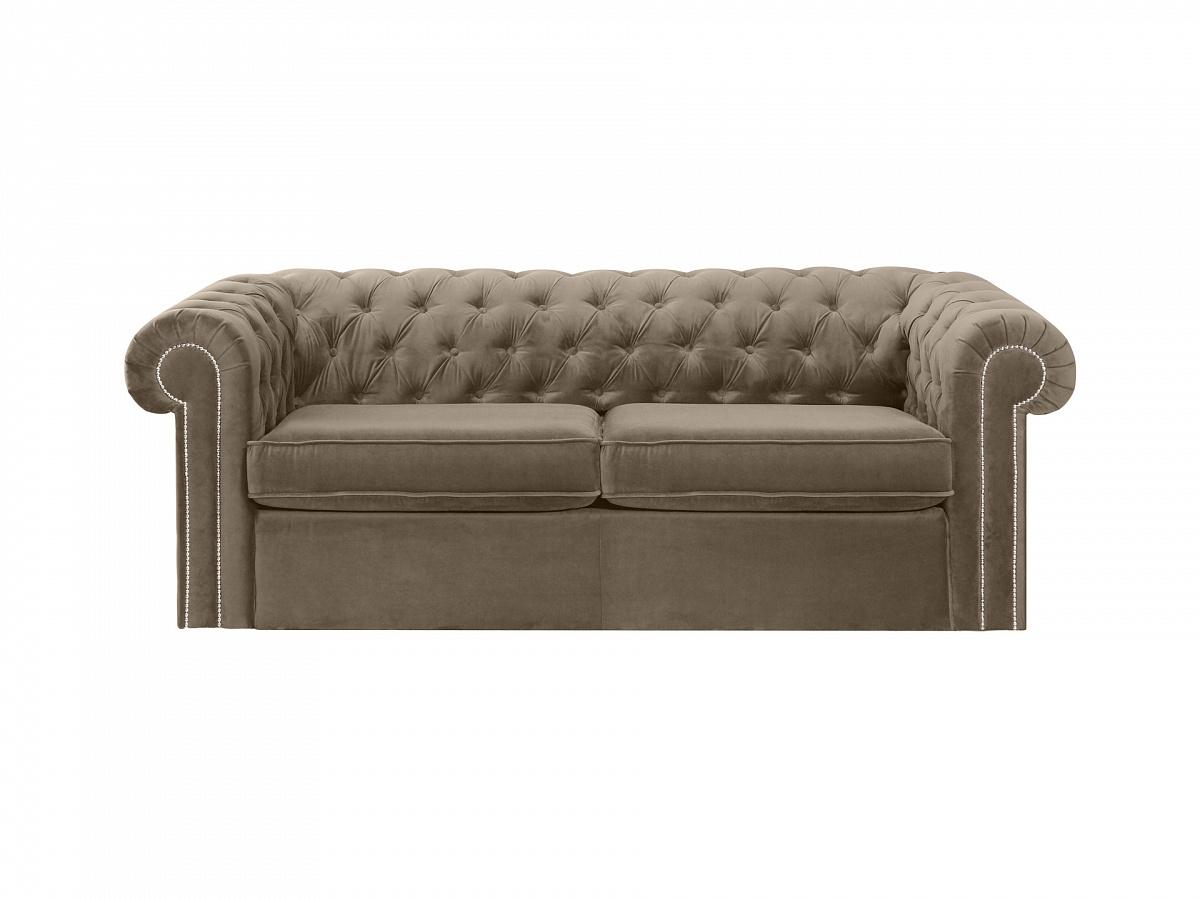 Ogogo диван chesterfield серый 109188/4